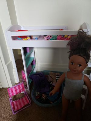 18in My life doll+bed+clothing, 11in reborn baby, 12in toddler moana for Sale in Zanesville, OH