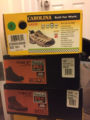 Carolina,timberland work boots. for Sale in Pittsburgh, PA