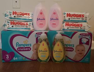Pampers Bundle (size 3 only) for Sale in Tampa, FL