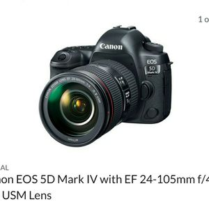 5d Mark IV w/ 24-105 MarkII l Series Glass 2 Extra Betteries And Some Small Rig Equipment for Sale in Long Beach, CA