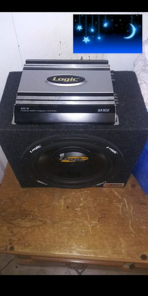 12 inch sub /900 watts amp for Sale in Piedmont, CA