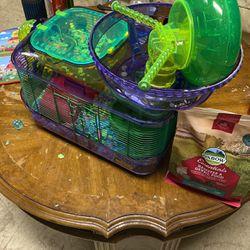 Hamster + Hamster habitat for Sale in Troy,  MI