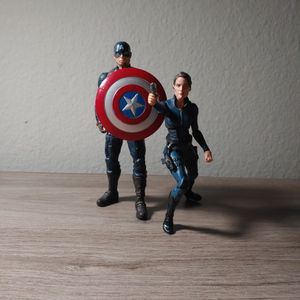 Captain America And Maria Hill (Marvel LEGENDS) for Sale in Anaheim, CA