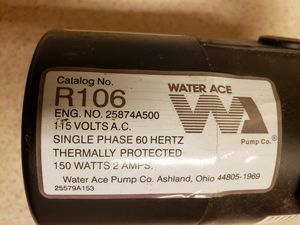 Best offer: Water transfer pump R106 Water Ace for Sale in Linthicum Heights, MD
