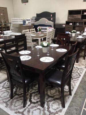 Stylish 6 PC Dining Set, Espresso for Sale in Norwalk, CA