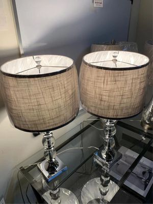 """New in box 2 pack bridgeport designs table light modern style elegant 29"""" tall table lamps with natural shade lamp for Sale in Whittier, CA"""