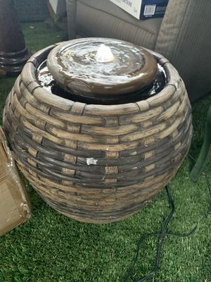 Small barrel fountain with light for Sale in Bell Gardens, CA