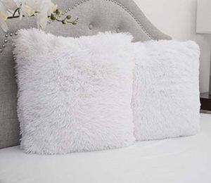 PILLOWS - 2 white fluffy big throw pillows for Sale in Seattle, WA