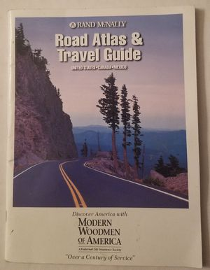 Rand Mcnally Road Atlas & Travel Guide 1999 U.S. Canada Mexico for Sale in Three Rivers, MI