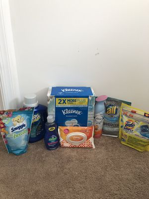 Household bundle laundry tide Kleenex for Sale in Shepherdstown, WV