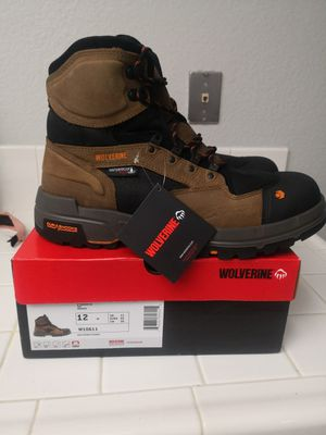 Brand new wolverine legend composite toe work boots size 12 for Sale in Riverside, CA