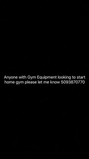 LOOKING TO START HOME GYM ANY EQUIPMENT OUT THERE AVAILABLE for Sale in Wenatchee, WA