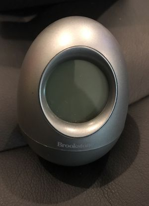 Brookstone Bob 5 in 1 grey wobble egg alarm clock for Sale in Los Angeles, CA