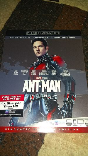 BRAND NEW SEALED NEVER OPENED 4K ANTMAN MOVIE ASKING ONLY FOR $14.00 for Sale in Phoenix, AZ