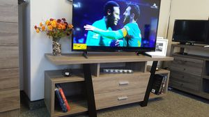 Sierra TV Stand up to 70in TVs, Dark Taupe & Black Finish for Sale in Santa Ana, CA