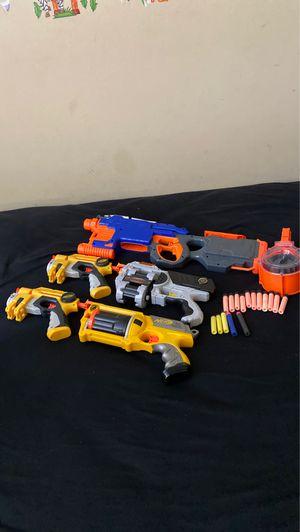 5 nerf guns 16 nerf bullets for Sale in San Juan Capistrano, CA