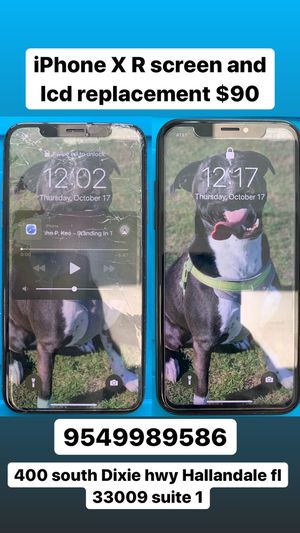 iPhone X R screen and lcd replacement only $90 for Sale in Fort Lauderdale, FL