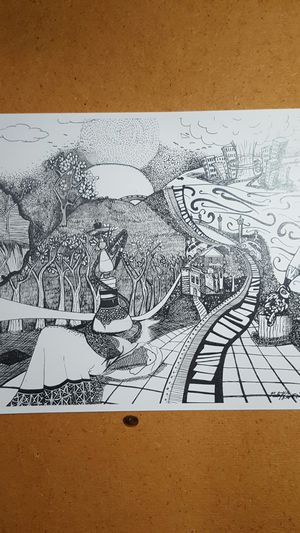 Reduced! Print copy of Original Artwork: Black and White for Sale in Saint Robert, MO