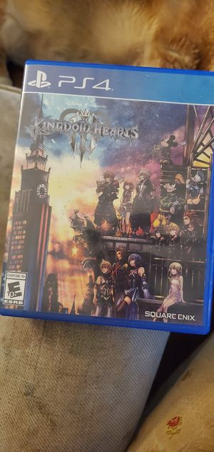 Kingdom hearts 3 for the ps4 for Sale in Mission Viejo, CA