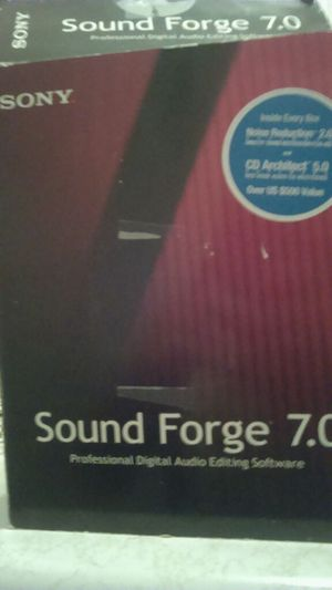 Sony soundforge 7.0 comes with all software enhance vocals and Beats for Sale in Albuquerque, NM
