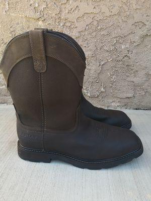 Ariat steel toe work boots size 10.5 EE for Sale in Riverside, CA