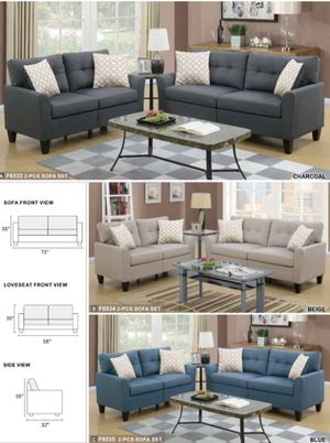 2pcs sofa set loveseat & sofa available in three different colors for Sale in Whittier, CA