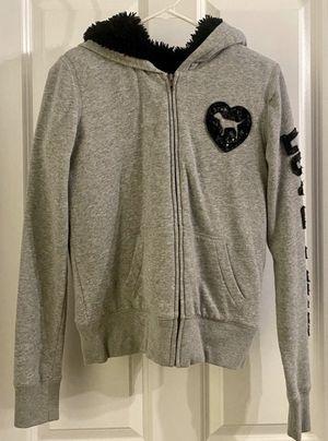"Women's Girls Kids Victoria's Secret ""Love Pink"" Jumper Hootie Jack With Fur Inside Jacket for Sale in Chapel Hill, NC"