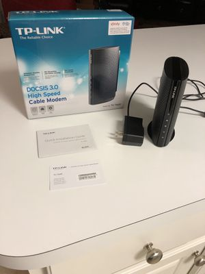 TP-Link 680Mbps cable modem & Linksys Wireless-N router. for Sale in Woodstock, GA