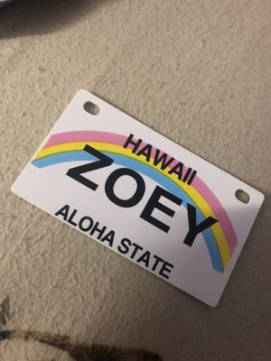 Hawaii Zoey Nametag for Sale in Fremont, CA