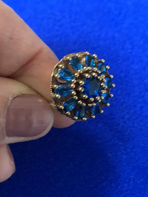 Antique Vintage Style Midnight Blue Spinel Topaz Ring S 10.5 for Sale in Nashville, TN