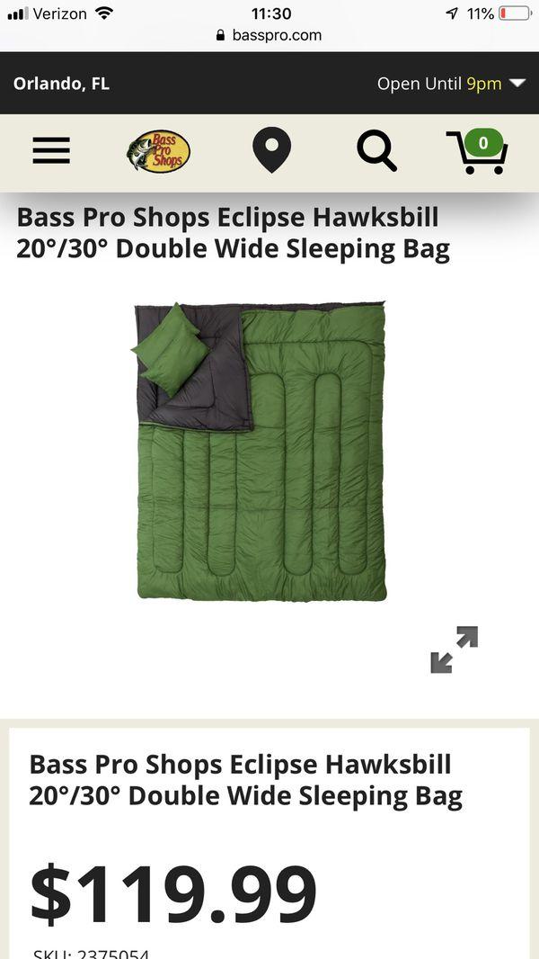 Bass Pro Double Wide Sleeping Bag