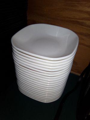22 Square commercial restaurant melamine bowls White 36obo bucks for all of them 12ea for Sale in Oklahoma City, OK