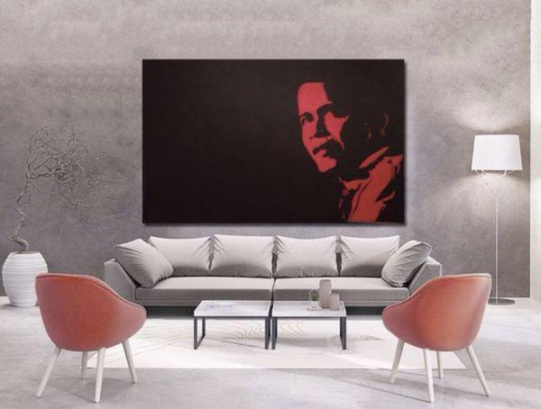 VERY Large Original Canvas Art Painting 8ft x 5ft Obama - Rare