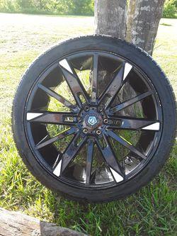 24 inch rims, 3 good tires for Sale in Lowndesboro,  AL