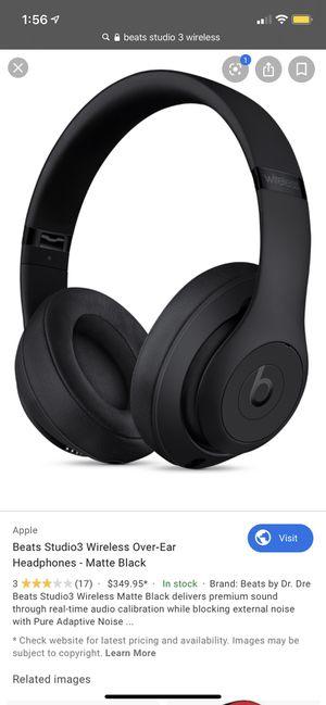Beats studio 3 wireless matte black for Sale in Inglewood, CA