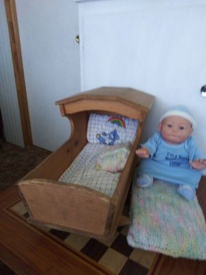 Handmade wooden doll cradle for Sale in Oroville, CA