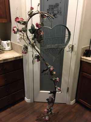 Heart shaped bird cage on metal stand that looks like branches for Sale in Hillsboro, OR