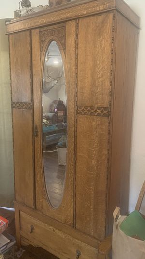 Antique tiger wood armoire for Sale in Buckeye, AZ