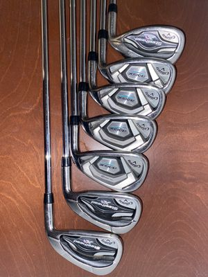 Callaway rogue and steel head irons with driver, woods and hybrid for Sale in Etiwanda, CA