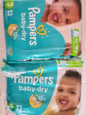 Pampers baby dry diapers for Sale in Columbus, OH
