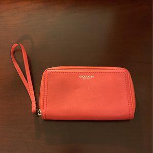 Orange Coach Wristlet for Sale in Revere, MA
