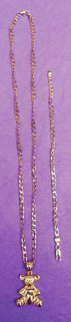 🚗🚗I deliver...I ship....$80 24'18kt Gold filled 💖📿chain charm and bracelet wont fade nor tarnish 🚕🚕🚕 for Sale in Hollywood, FL
