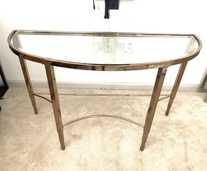 Gold Console Table- LIKE NEW for Sale in Laurel, MD