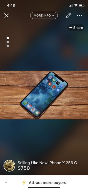 Selling A Meticulously Cared for 256 G iPhone X for Sale in Houston, TX