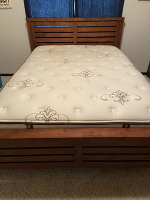 Bed frame and Queen size mattress for Sale in Arlington, WA