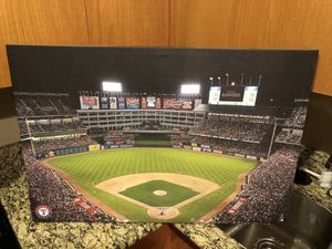 Texas Rangers Globe Life Park Canvas for Sale in Dallas, TX