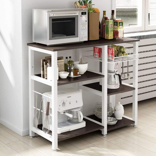 Utility Stand Storage Cart 3-Tier Baker's Rack