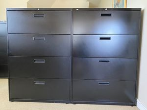 Two HON lateral steel file cabinets with 4 locking drawers for Sale in Mill Valley, CA