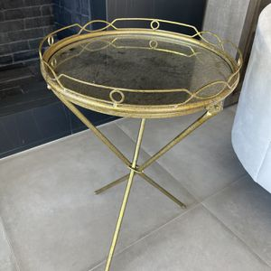Gold Colored Mirrored Bar Tray And Stand for Sale in East Los Angeles, CA
