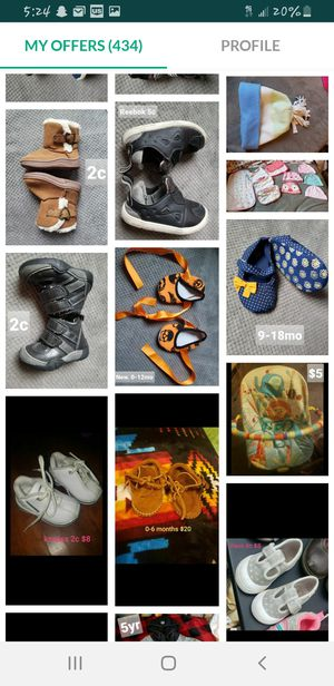 Baby and kids shoes. Variety of sizes and prices. See all posts(: for Sale in Tacoma, WA